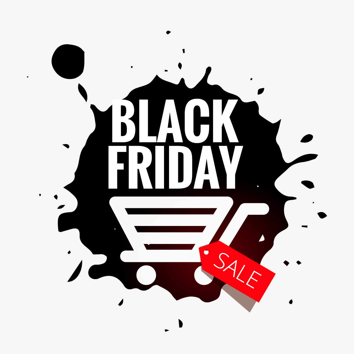 black friday sale in grunge style