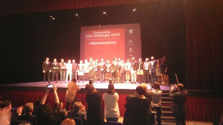Foto de familia Premios AJE Málaga 2015 Solbyte