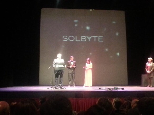 """Solbyte, primera finalista en los Premios AJE Málaga 2015 en la categoría """"Trayectoria Empresarial"""""""